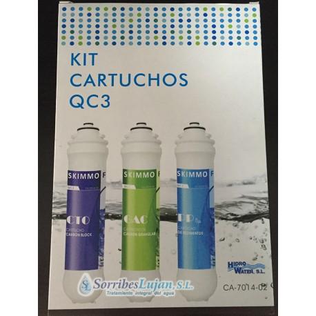 Kit cartuchos osmosis inversa QC3 ( 3 cartuchos )