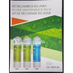 Kit cartuchos en línea Serie KT osmosis inversa ( 3 cartuchos )